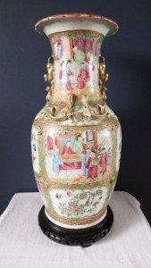 Canton Famille rose vase