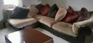 leather base corner sofa