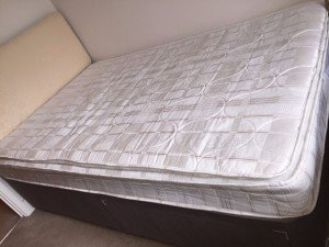 brown double bed