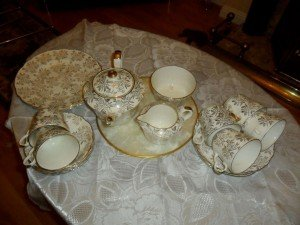 Chintz tea service