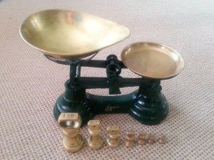 brass kitchen scale set,