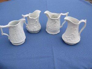 Parian ware jugs