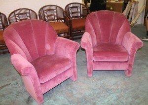 barrel armchairs