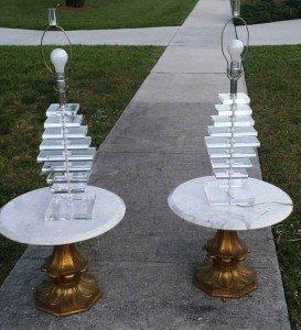gilt wood side tables