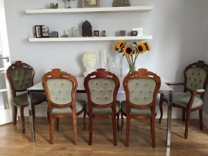 carved wood dining chairs