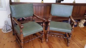 low back hall chairs