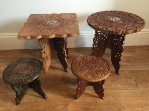 solid wood side tables