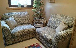corner armchairs