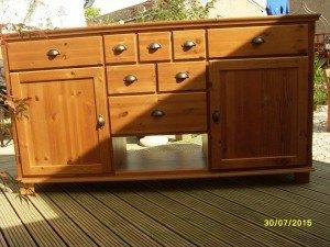 solid pine bedroom dresser