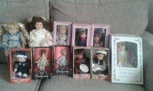boxed porcelain dolls