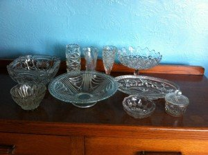 vintage glass ware