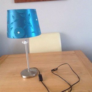 steel table lamp
