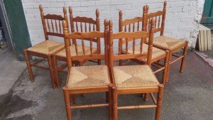 rush dining chairs