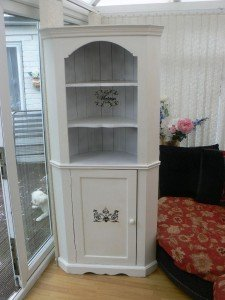 ornate corner storage unit