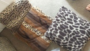 animal printed cushions
