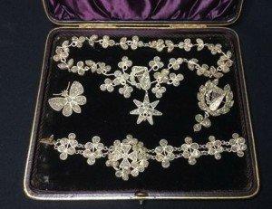 Victorian mineral set