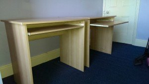 pine wood desks