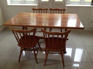 raised dining table