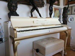 miniature ivory piano