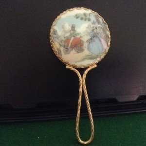 limoges hand mirror