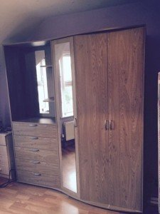 wooden double wardrobe