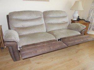 vintage reclining sofa