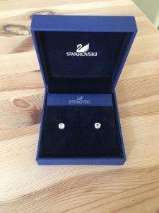 Swarovski solitaire crystal earrings