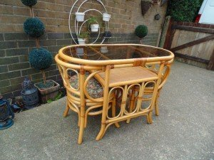 bamboo vintage dining table