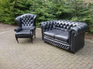 vintage Chesterfield sofa suite