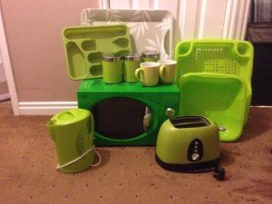 green kitchen accessories