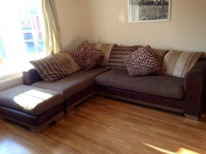 two part corner sofa