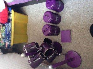purple kitchen accessories