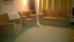 high back vintage sofa