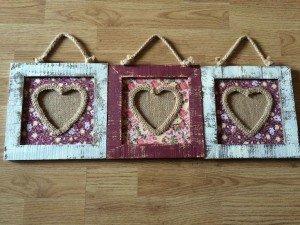 heart shaped photo frames