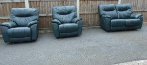 vintage recliner sofa suite