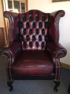 wing back club chair