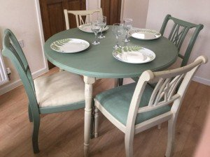 shabby chic style dining table