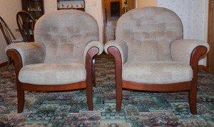 mahogany based armchairs