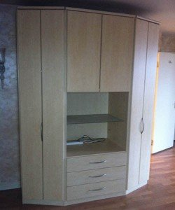hexagonal shaped wardrobe