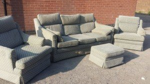 four piece vintage sofa suite
