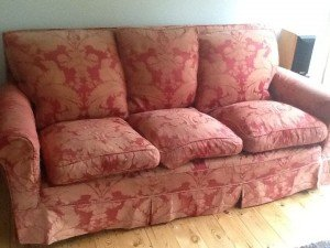 high back vintage sofa