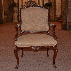 Florentine mahogany salon armchair