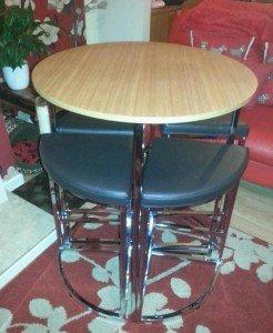 chrome breakfast table