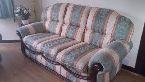 vintage high back sofa