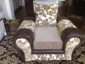 small Chenille fabric armchair