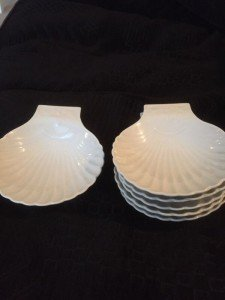 scallop porcelain dishes