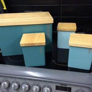 wood kitchen canisters