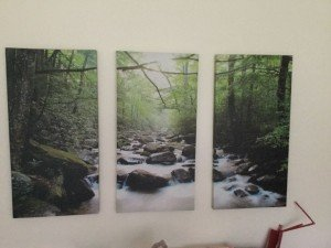three piece wall canvas