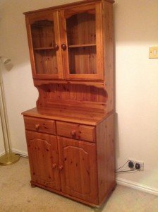 solid oak kitchen unit dresser