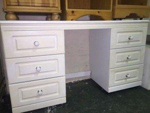 painted white desk